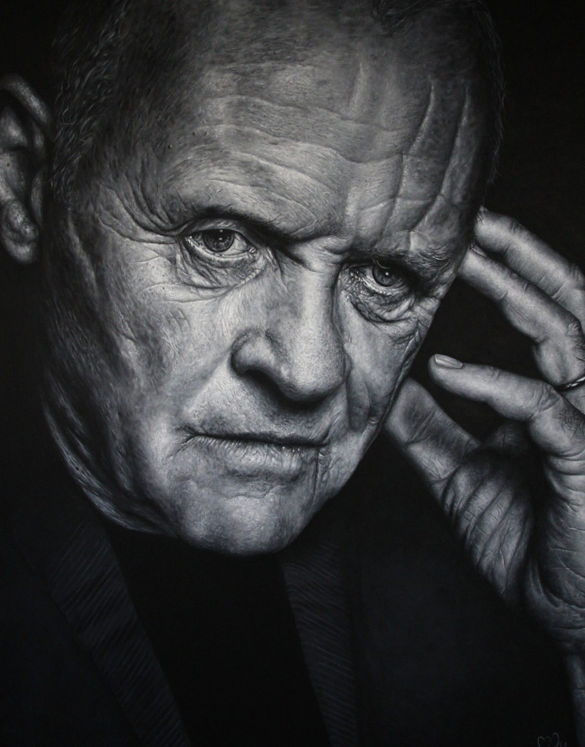 Anthony Hopkins Aktor Marta Judkowiak portret portrait ART